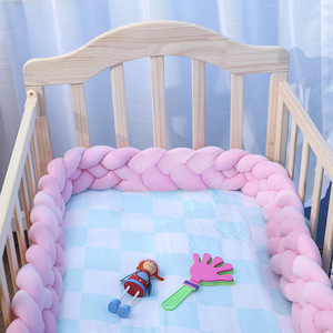 1Pcs 1M Baby Baby Handmade Nodic Knot Newborn Bed Bumper Long Knotted Braid Pillow Baby Bed Bumper Knot Crib Infant Room Decor