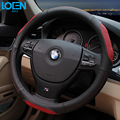 High Quality Cowhide Genuine Leather Hand-stitched Car Steering Wheel Cover Breathable and Anti-slip Fit for 95% Cars Styling