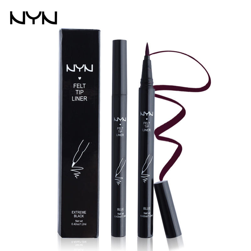 NYN Brand Thin Lines Eyeliner Blue / Purple Delineador Long Lasting Liquid Eye Liner Waterproof Eyeliner Pencil Makeup Cosmetics