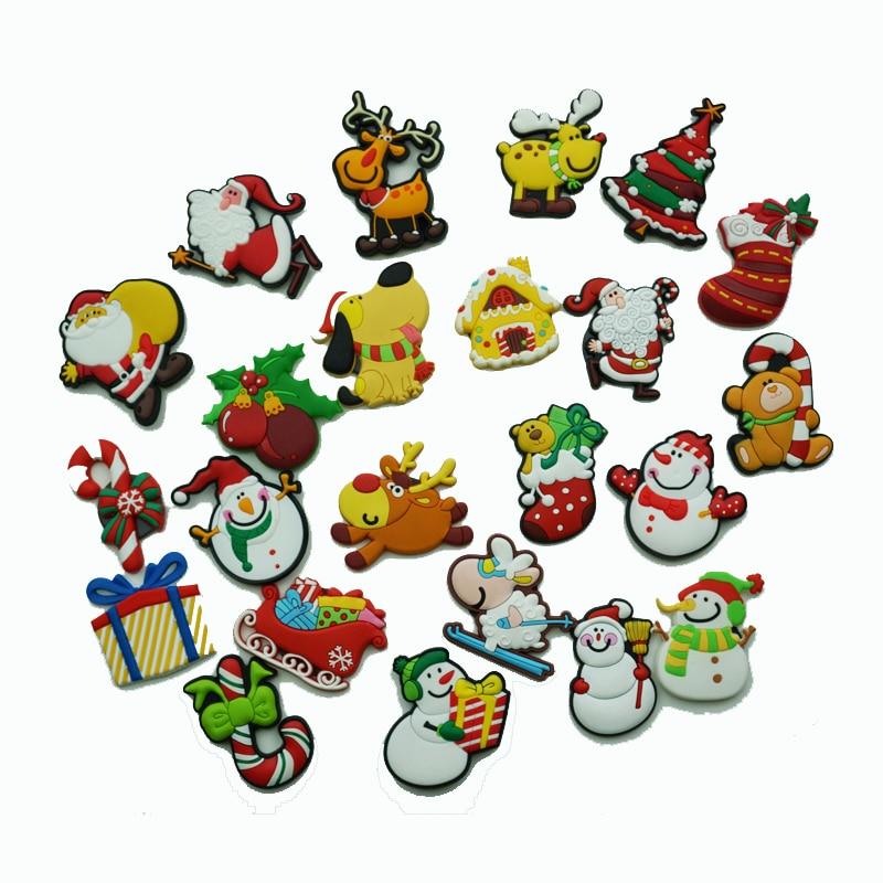 Cheap American Fridge Part - 39: Hot Sale 3D Cartoon PVC Fridge Sticker Magnets American Santa Snowman Q  Version Cute Santa Claus