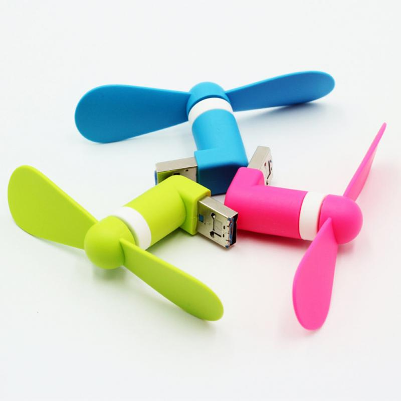 Hot New Portable OTG Mini Micro USB Strong Wind Cooling Fan For Phone Desktop Laptop