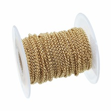 Open-Link-Chain Stainless-Steel Bracelet Jewelry-Making Gold-Color Bulk LOULEUR Chains