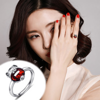2019 Promotion New Women Semi precious Rings Anillos S925 Hongyun Pig Gift Ring, Open Mouth Ben Year Pomegranate Female *