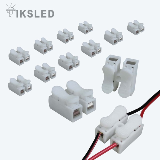Magnificent 10 100Pcs Ch 2 Press Type Electric Connection Quick Wiring Terminal Wiring Cloud Brecesaoduqqnet