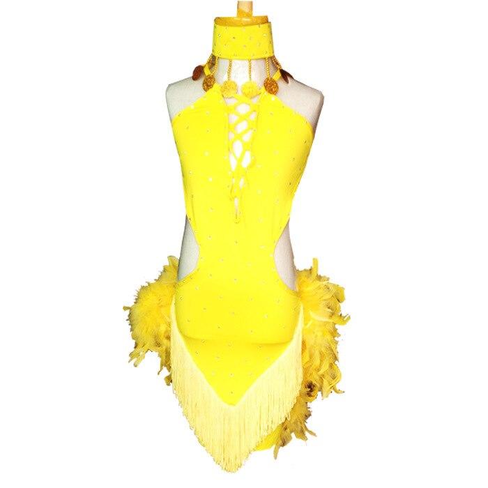 Costumes de danse latine pour enfants costumes vêtements costumes jupes latines pour enfants plumes glands modèles féminins