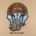 2 pcs/set 26cm*37.5cm handmade Beaded elephant Embroidered Sew-On Patches For Clothes Garment Applique DIY Accessory