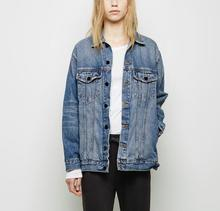 VogaIn 2016 New Luxury Designers Blue Washed Denim Jean Jacket Retro Style Tomboy Boyfriend style Casual Jackets Chest Pockets