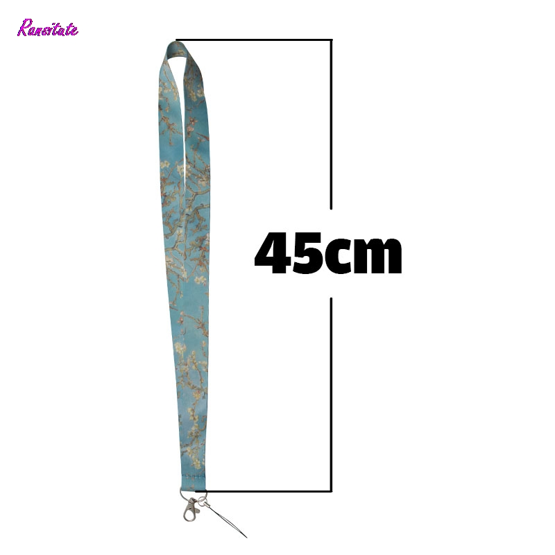 Ransitute Van Gogh's Branches Of An Almond Tree In Blossom Mobile Phone Straps  ID Cards Holders Neck Straps Webbing