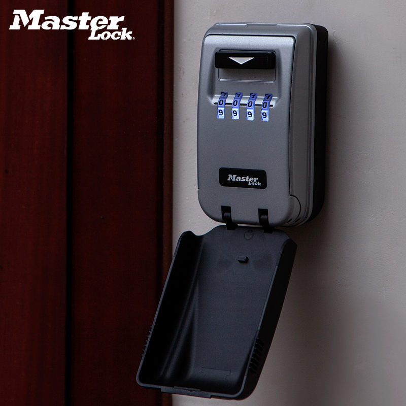 Image 5 - Master Lock Key Lock Box Outdoor Wall mounted Weather Resistant Keys Storage Box Light Up Dials Password Lock Organizer Boxes-in Locks from Home Improvement