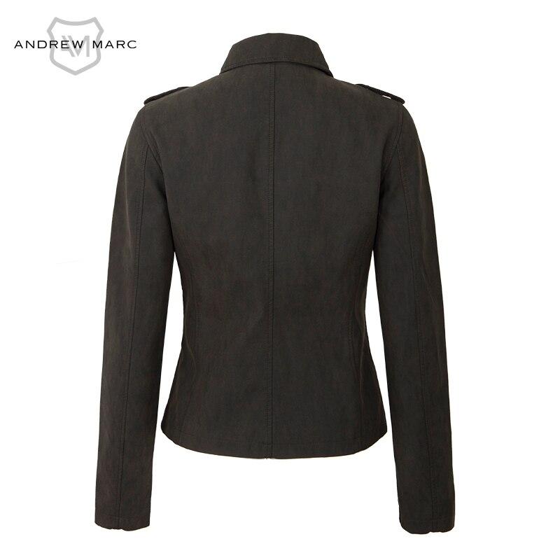 Femmes Collar Vêtements Pour Andrewmarc Veste Cuir Printemps En 2017 Femme Turn Tw7ap116 Manteau Ardoisé Pu Down P7OvPq