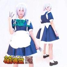 Anime Moda Encarnación de Scarlet Devil Touhou Project Izayoi Sakuya Cosplay Maid Lolita Disfraces de Halloween