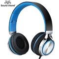 Sound intone ms200s auricular con cable en un estilo sencillo para el teléfono móvil bajo fuerte auriculares para pc android 3.5mm jack de auriculares