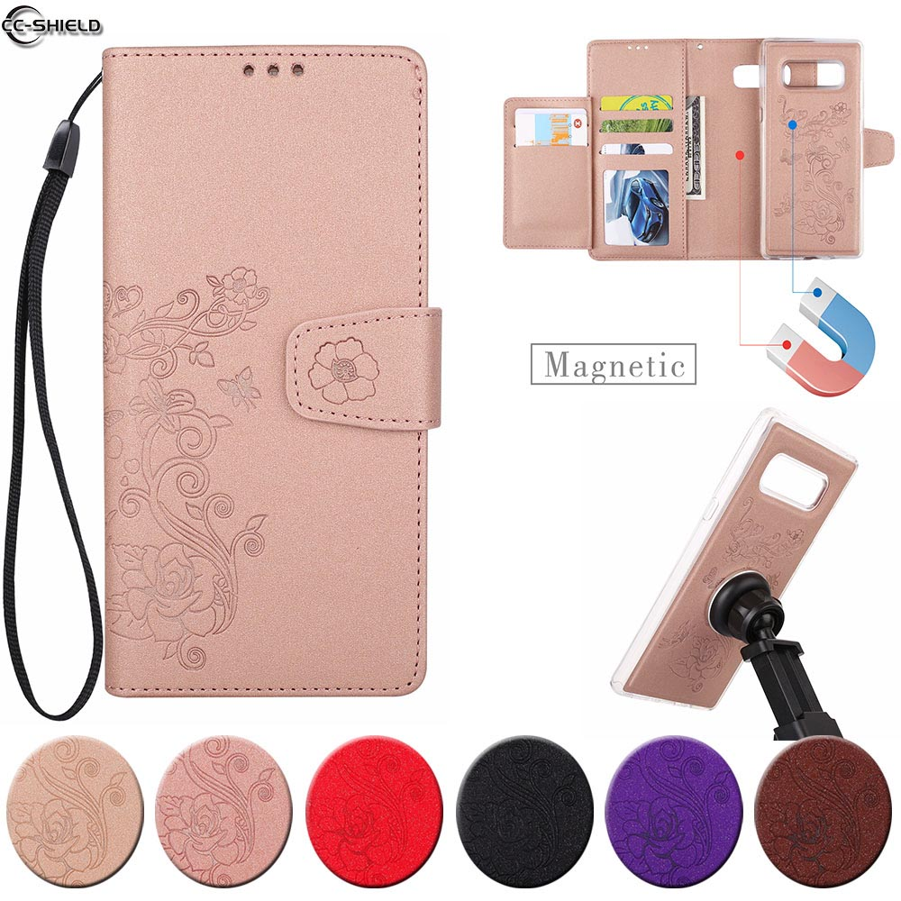 Flip Case For <font><b>Samsung</b></font> <font><b>Galaxy</b></font> <font><b>Note</b></font> <font><b>8</b></font> Note8 Case Phone Leather Cover Note8 SM-N9508 SM-N9500 SM-N950F SM-N950FD N950U N950W <font><b>N950N</b></font> image