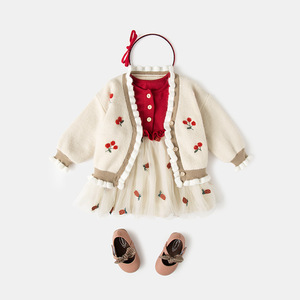 Image 5 - Niemowlę ubranka dla niemowląt noworodek chrzest sukienka dla dziewczynek odzież haftowana truskawka Princess Party świąteczne sukienki do chrztu