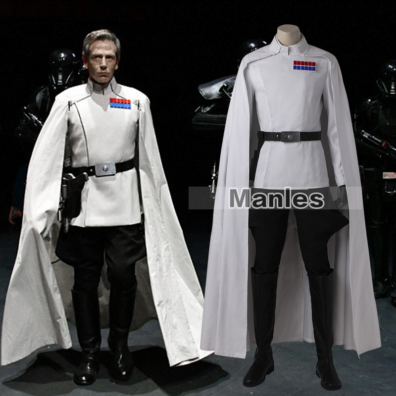Orson Krennic Costume Cosplay Rogue One A Star Wars Story Costume White Uniform Adult Men Movie