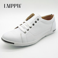 British Style Big Size 48 Men S Casual Shoes Breathable Fashion Lace Up Flats Shoes White
