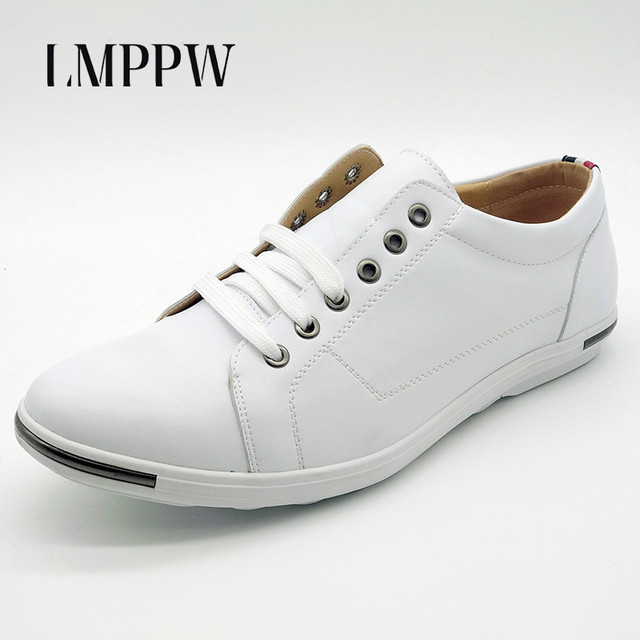 6143bdad771e Aliexpress.com : Buy British Style Big Size 48 Men's Casual Shoes  Breathable Fashion Lace up Flats Shoes White Brand Design Casual Leather  Shoes 2A ...