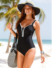 New European and American Style One-piece Sexy Swimsuit Plus Fat Large Size Swimwear Spot Wholesale