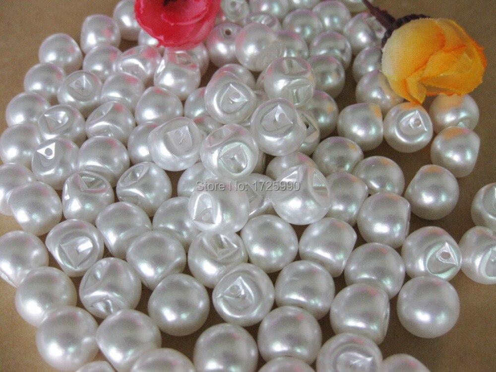 botones de perlas blancas mm beb botn de la ropa botn de costura unids para