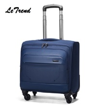 LeTrend Wheel Luggage Metal Trolley Bag Men Travel Hand Trolley Men Bag Large Capacity Travel Luggage Bags Suitcase Trip Luggage cheap Polyester Unisex Carry-Ons Spinner YBL01