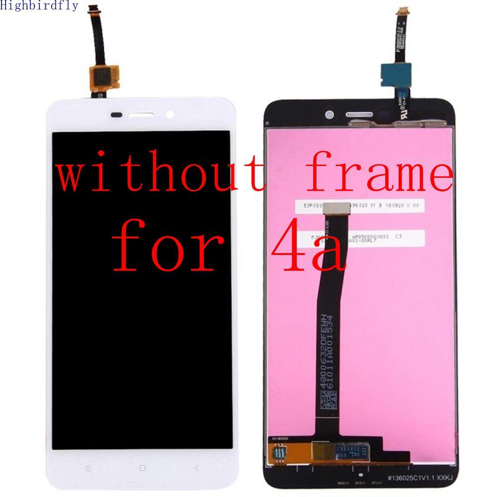Highbirdfly Pour Xiaomi Redmi 4A 5.0 Lcd Écran Avec Écran Tactile En Verre Digitizer Cadre Assemblée Remplacer