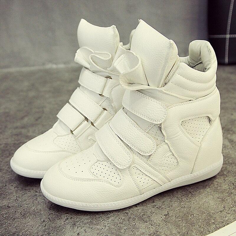 Zapatos de las mujeres Ocasionales Ocultos Plataforma Cuñas Zapatos de Lona de L