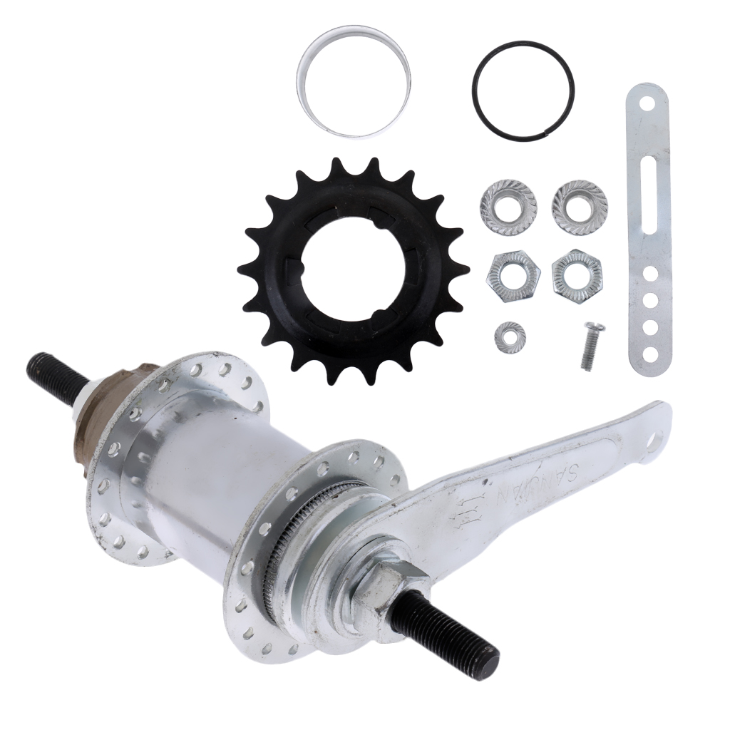 Stainless Steel <font><b>Bicycle</b></font> Bike Coaster Brake Rear <font><b>Hub</b></font> 32 <font><b>Holes</b></font> Fixed/Free Gear image