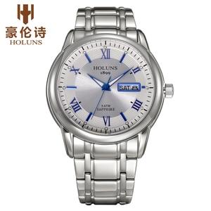 Image 3 - Holuns Top Luxe Horloge Mannen Volledig Roestvrijstalen Klok Mannelijke Sport Business Japanse Quartz Horloges Militaire Horloge Relogio
