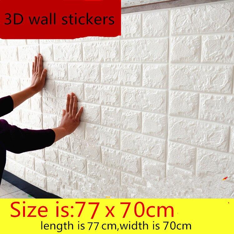 3D autoadesivi della parete autoadesivo creativo TV sfondo schiuma muro di mattoni carta da parati decorativa impermeabile