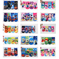 1 Pair Cartoon Kids Socks Cute Minions Spider-Man Hello Kitty Floor Sock Boys Girls Cotton Short Socks Christmas Birthday Gifts