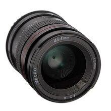 """35 מ""""מ F2.0 רחב זווית פוקוס ידני MF מאקרו ראש עדשה עבור Canon EOS 60D 70D 750D 650D 5DII 5 5DIII מצלמות"""