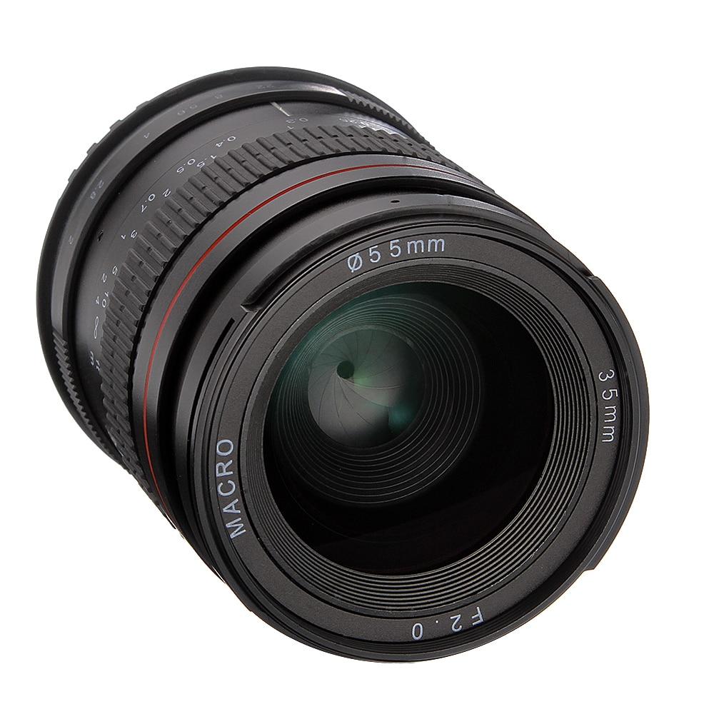 Objectif Macro de mise au point manuelle grand Angle 35mm F2.0 pour appareils photo Canon EOS 60D 70D 750D 650D 5DII 5 DIII