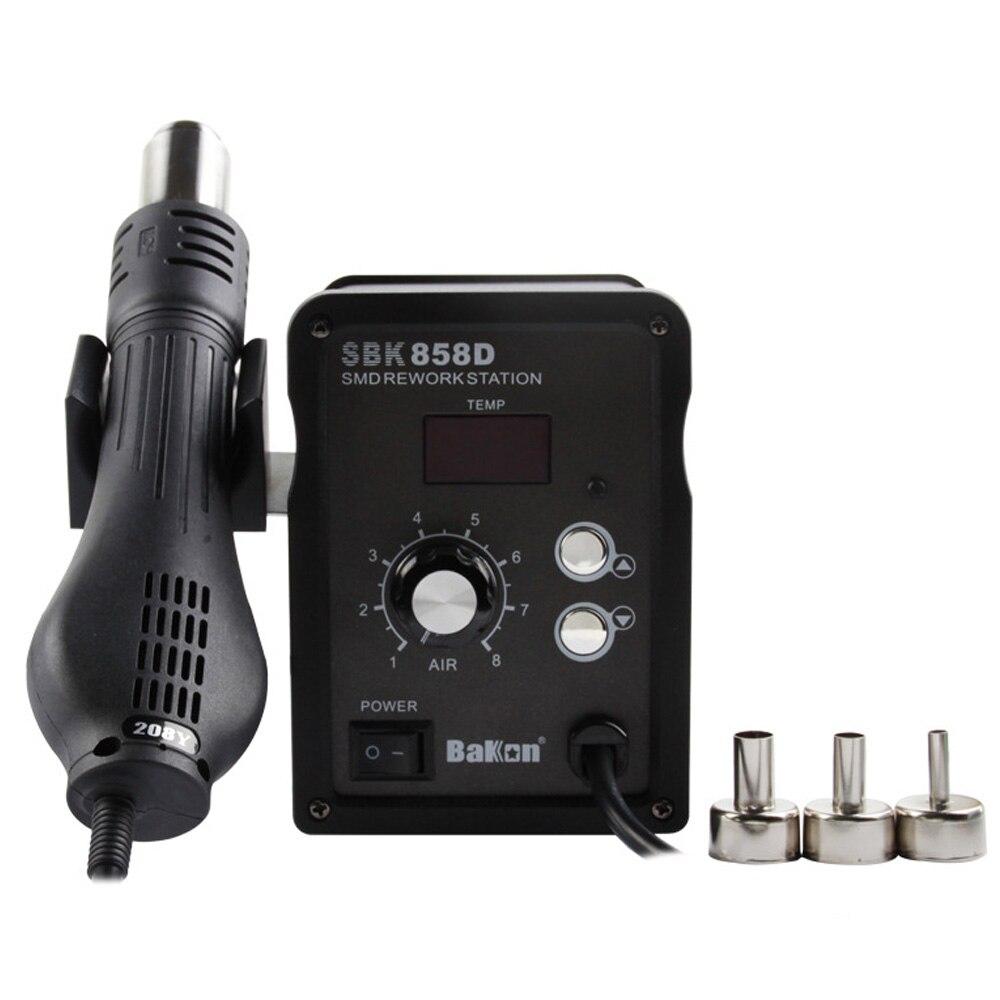 BAKON SBK858D 700W Hot wiatrówka stacja lutownicza 2w1 cyfrowa stacja rozlutownicy o stałej temperaturze