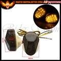 Lente fumaça motocicleta moto led sinais de volta luz indicadora pisca âmbar dc12v para kawasaki zzr600 zx9r zx7r zx6r zx636 zx12r