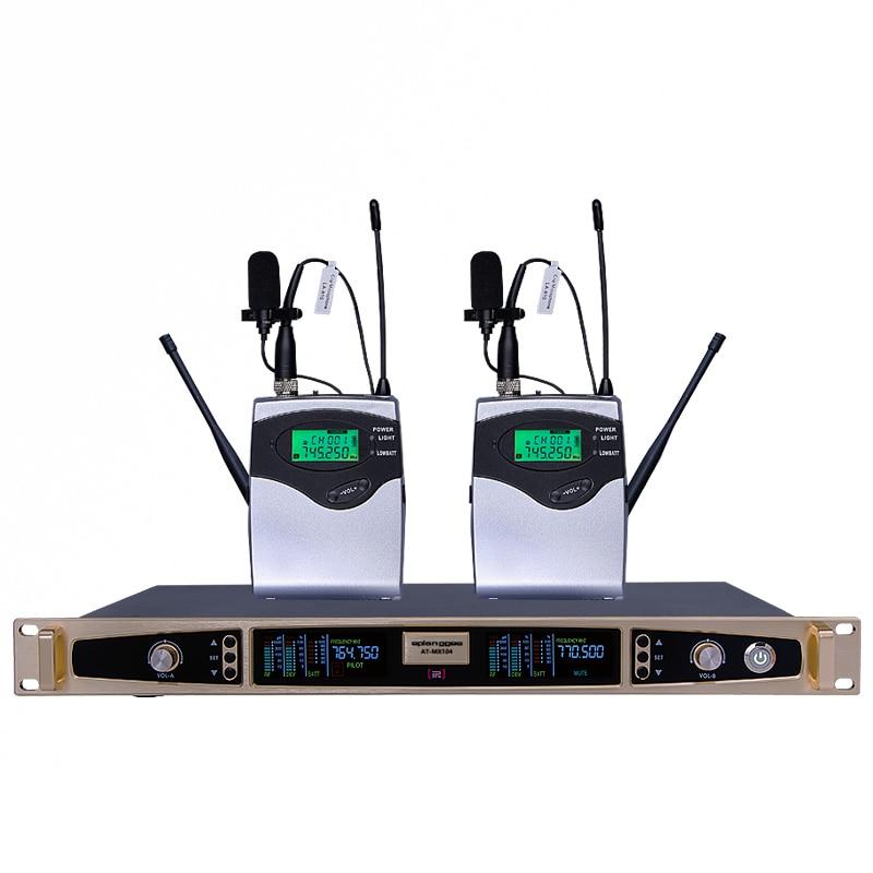 EPLangge  true diversity pro wireless microphone system DJ stage karaoke 2 lavalier 2 headset with two bodypack MICROFON freeboss ku 22h2 uhf wireless microphone system dj karaoke 2 lapel 2 headset microphone 2 bodypack transmitter