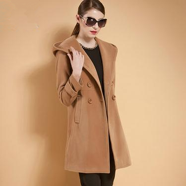 Aliexpress.com : Buy 2016 Spring Autumn Hooded Wool Coat Women ...