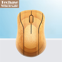 Wholesale 72pcs/lot Techase Bamboo Mouse Wooden Wireless Mause Computer Gaming Mouse Souris Gamer MG95 Laser 2.4GHz For Laptop