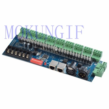 27CH 27channels LED DMX512 decoder WS-27CH3A-BAN RGB controller2 with XRL 3P RJ45 for led strip light led lamp DC12V-24V