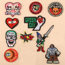 The Love Skull Man Parches Ropa Patch Embroidered Patches For Clothing Iron On For Close Shoes Bags Badges Embroidery the close encounters man