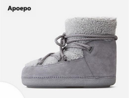 Apoepo brand Newest Thick Bottom Woman Winter shoes Warm Snow Boots Female Slip-on Ankle Boots women zapatos de mujer de moda x& 039 trike x 113 7 0 r17 5 114 3 et45 d60 1 bk fp [71045]