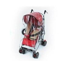 Детская коляска дождевик ветрозащитный капюшон от дождя крышка автомобиля Ветровое стекло пылезащитный чехол аксессуары для детей уход