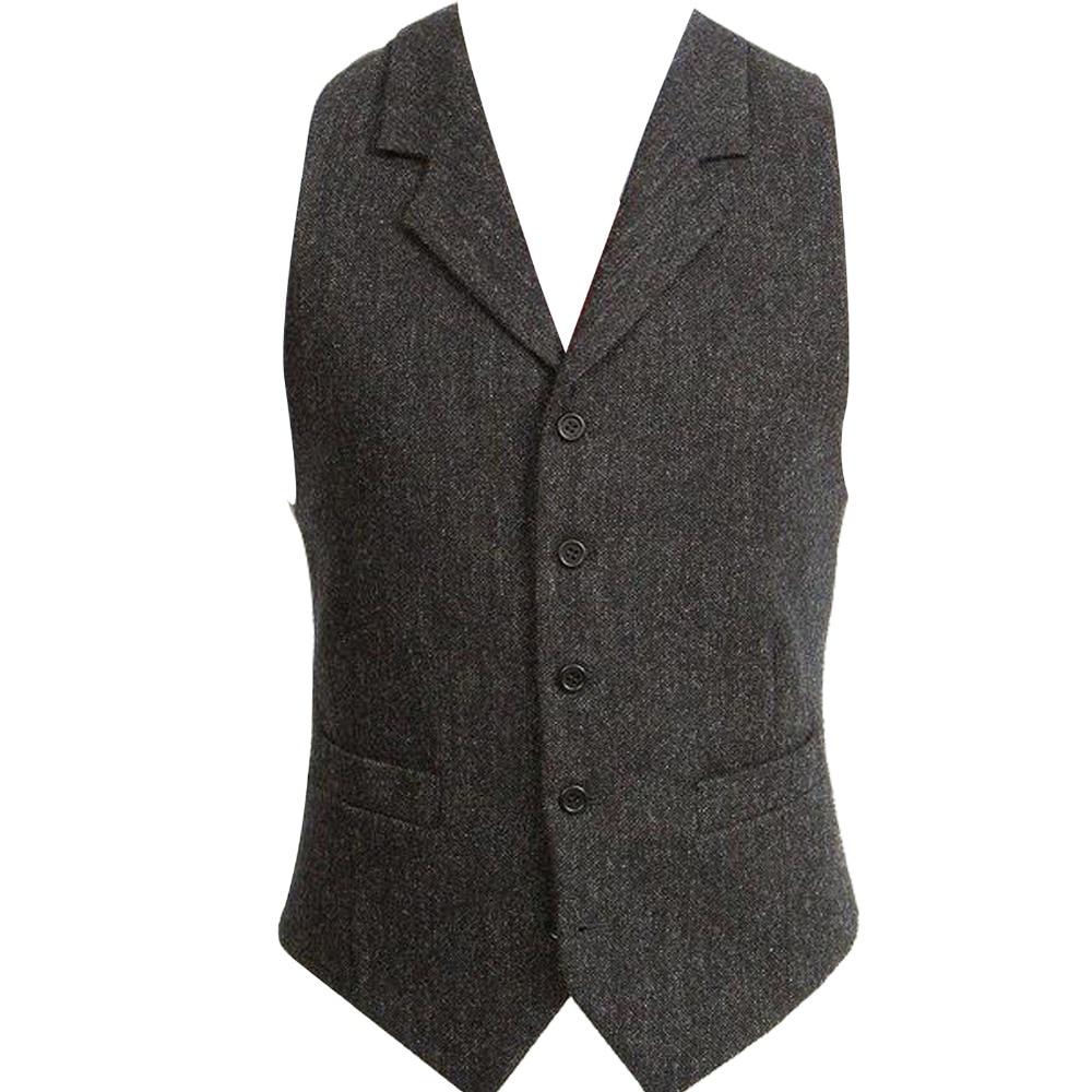 8c90ea1bf39722 HCF by Air Men's Sleeveless Jacket Waistcoat Men Suit Vest Black Male  British Style Slim Fashion