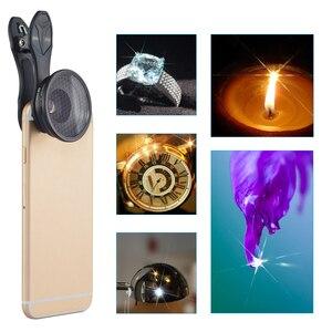 Image 5 - APEXEL العالمي 2 في 1 20X عدسة ماكرو المهنية الهاتف المحمول عدسات الكاميرا مع ستار تصفية آيفون سامسونج شاومي redmi