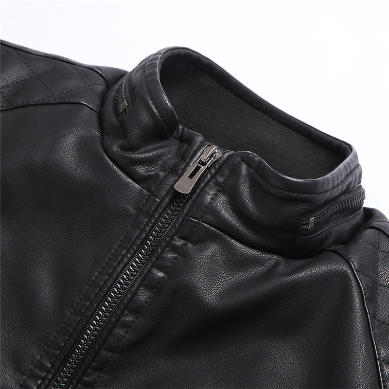 Covrlge mootorratta nahkjakk meestele uus 2019 Slim Fit PU jakid - Meeste riided - Foto 5
