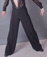 ballroom dancing Latin dance man waist satin + sideband satin elastic pants ML0805