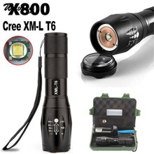 Bicycle Light With 18650 Battery Charger Case Cycling Bike Head Front Light G700 X800 Zoomable XML