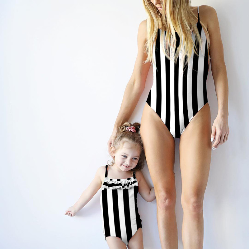 2019 Summer time Mom Daughter Swimwear Household Matching Outfits Mommy Ladies Child One-Piece Swimsuit Bikini Bathing Go well with Swimwear Matching Household Outfits, Low-cost Matching Household Outfits, 2019 Summer...