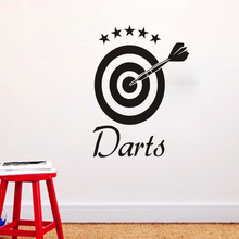 Darts Wall Stickers For Kids Rooms Wall Decorative Target Wall Decals Decor  DIY Stickers(China
