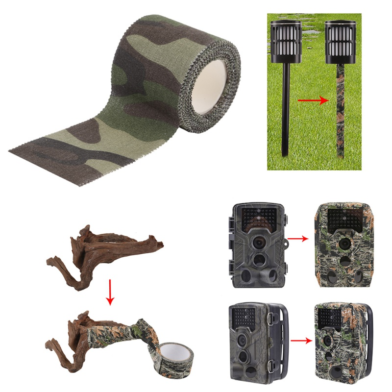 Image 2 - 5M Self adhesive Army Non Woven Cohesive Bandage Non woven Camouflage Cohesive Camping Hunting Stealth Tape-in Outdoor Tools from Sports & Entertainment