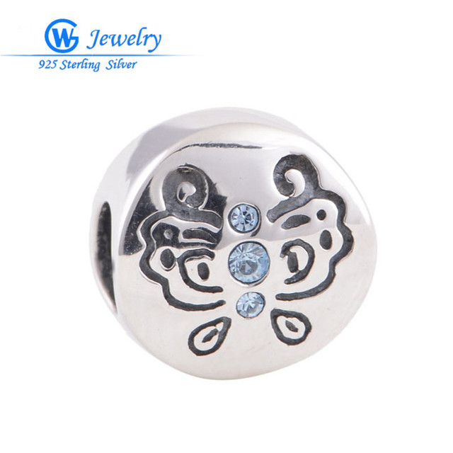 New butterfly charm with genuine 925 sterling silver  diy beads Fits European rainbow bracelets GW Fine Jewelry X148AH30